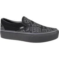Shoes Women Slip-ons Vans 66 Classic Slipon Platform Grey, Graphite