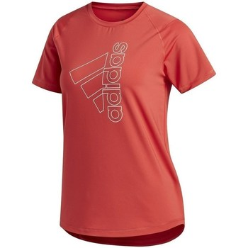 Clothing Women short-sleeved t-shirts adidas Originals Tech Bos Tee Red