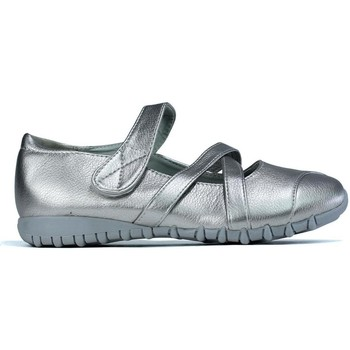 Shoes Women Flat shoes Fuguimei Women's Padded Comfort Slip On Shoe Silver