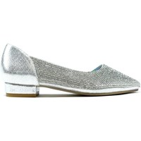 Shoes Women Flat shoes Strictly All Shine Diamante Open Side Flat Shoes Silver