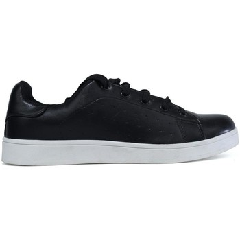 Shoes Women Low top trainers Hotsoles London Wonder Plain Black Trainer Black