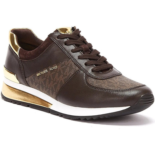 Shoes Women Fitness / Training MICHAEL Michael Kors Allie Wrap Womens Brown Trainers Brown