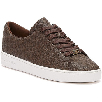 Shoes Women Low top trainers MICHAEL Michael Kors Keaton Logo Womens Brown Trainers Brown