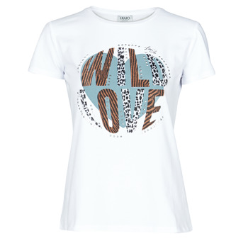 Clothing Women Short-sleeved t-shirts Liu Jo WF0098-J5003 White