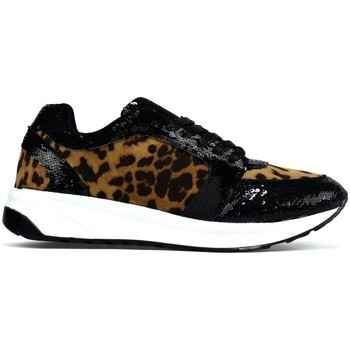 Shoes Women Low top trainers Hotsoles London Hot Soles Curved Sole Trainer Leopard