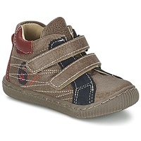 Shoes Boy Hi top trainers Citrouille et Compagnie THEO Taupe