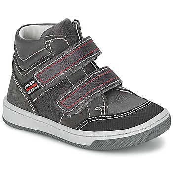 Shoes Boy Hi top trainers Citrouille et Compagnie MONI Grey