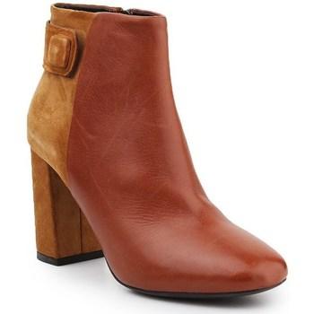 Shoes Women Ankle boots Geox D Audalies H C Brown