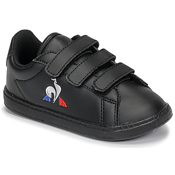 Shoes Children Low top trainers Le Coq Sportif COURTSET INF Black