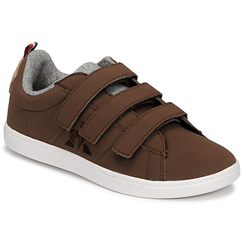 Shoes Children Low top trainers Le Coq Sportif COURTCLASSIC PS Brown
