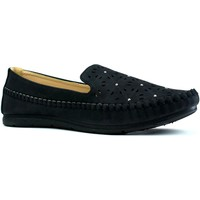Shoes Women Slip-ons Reveal Love Your Look Ladies comfort shoe with diamante studs Black