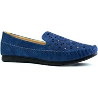 Shoes Women Slip-ons Reveal Love Your Look Ladies comfort shoe with diamante studs Navy