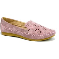 Shoes Women Slip-ons Reveal Love Your Look Ladies comfort shoe with diamante studs Pink