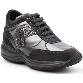 Shoes Women Low top trainers Geox D Happy A D6462A-022AJ-C9A1G black, silver