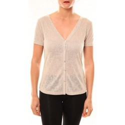 Clothing Women Short-sleeved t-shirts Meisïe Top 50-608SP14 Beige Beige