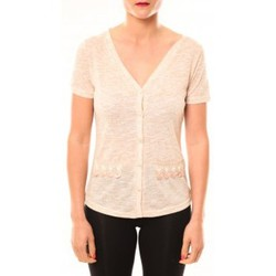 Clothing Women Short-sleeved t-shirts Meisïe Top 50-608SP15 Beige Beige