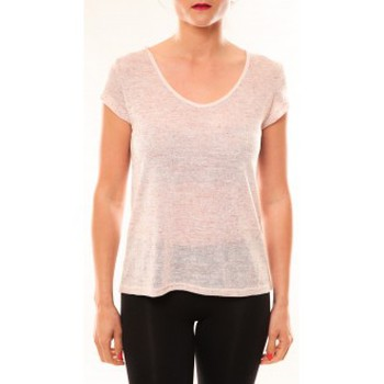 Clothing Women Short-sleeved t-shirts Meisïe T-Shirt 50-606SP15 Rose Pink