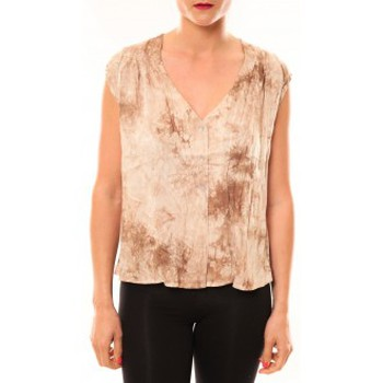 Clothing Women Tops / Sleeveless T-shirts Meisïe Top 50-504SP15 Beige Beige