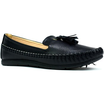 Shoes Women Loafers Reveal Love Your Look Ladies comfort shoe with front tassel Black