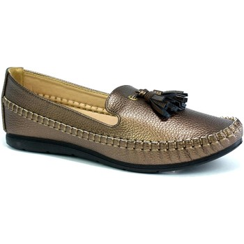 Shoes Women Loafers Reveal Love Your Look Ladies comfort shoe with front tassel Bronze