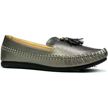 Shoes Women Loafers Reveal Love Your Look Ladies comfort shoe with front tassel Pewter