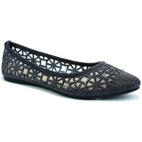 Shoes Women Flat shoes Reveal Love Your Look Ladies Flat Diamante Ballerina Grey