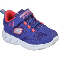 Shoes Girl Fitness / Training Skechers 302092NBLCL21 S Lights Magna-Lights Expert Level Blue and Coral