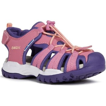 Shoes Girl Outdoor sandals Geox J020WB-05015-C8370 J Borealis Girl B Fuchsia and Violet