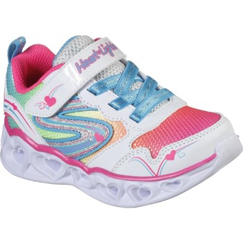 Shoes Girl Low top trainers Skechers 20294NWMLT21 S Lights Heart Lights Love Spark White and Multi