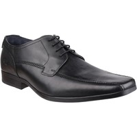Shoes Men Derby Shoes Base London Base Lytham Excel Black Waxy