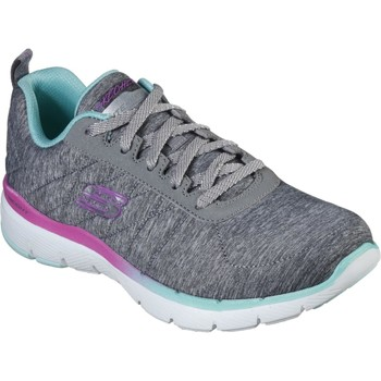 Shoes Women Fitness / Training Skechers 149008GYMT3 Flex Appeal 3.0 Fan Craze Grey and Mint