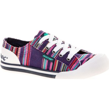 Shoes Women Low top trainers Rocket Dog JAZZINAE-NAVY-3 Jazzin Canvas Aloe Purple Multi