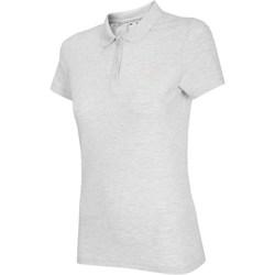 Clothing Women Short-sleeved polo shirts 4F NOSH4 TSD007 Biały Melanż White, Grey