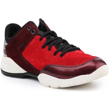 Shoes Men Low top trainers Geox D Sfinge A Burgundy,Red