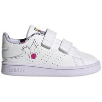 Shoes Children Low top trainers adidas Originals Advantage I White
