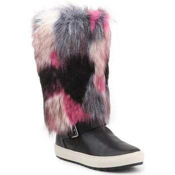 Shoes Women Snow boots Geox D Breeda F Black, Grey, Pink
