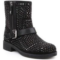 Shoes Women Ankle boots Geox D New Virna K Black
