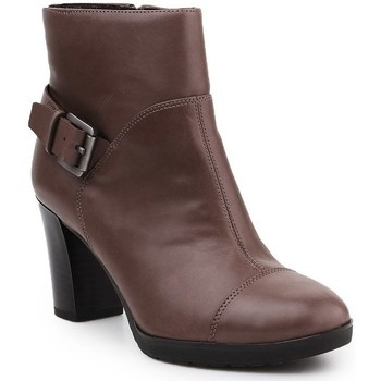 Shoes Women Ankle boots Geox D Raphal Mid A Brown