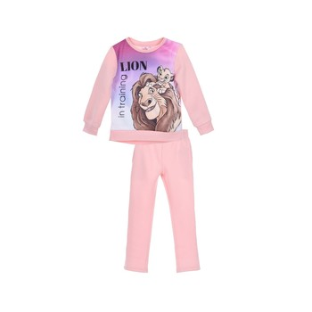 Clothing Girl Tracksuits TEAM HEROES  JOGGING  LION KING Pink