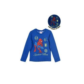 Clothing Boy Long sleeved tee-shirts TEAM HEROES  SPIDERMAN Blue