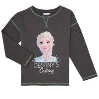 Clothing Girl Long sleeved tee-shirts TEAM HEROES FROZEN Grey