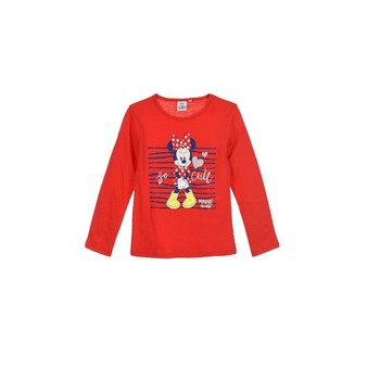 Clothing Girl Long sleeved tee-shirts TEAM HEROES  MINNIE Red