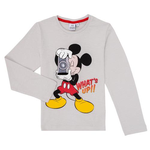 Clothing Boy Long sleeved tee-shirts TEAM HEROES MICKEY Grey