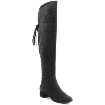 Shoes Women Thigh boots Geox D N.Carey B D644AB-00022-C9999 black