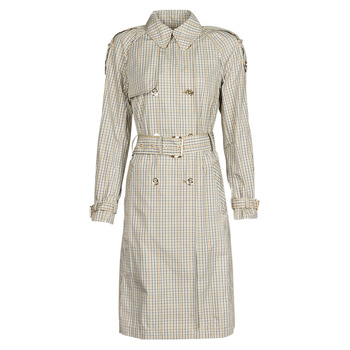 Clothing Women Trench coats MICHAEL Michael Kors PLAID PACKABLE TRENCH Beige
