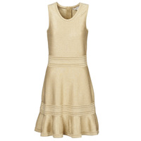 Clothing Women Short Dresses MICHAEL Michael Kors FIT FALRE SLVLESS DRS Gold