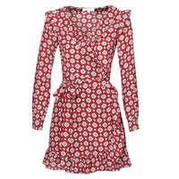 Clothing Women Short Dresses MICHAEL Michael Kors LUX PINDOT WRAP DRS Bordeaux