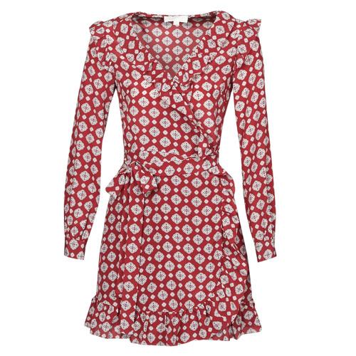 Clothing Women Short Dresses MICHAEL Michael Kors LUX PINDOT WRAP DRS Bordeaux