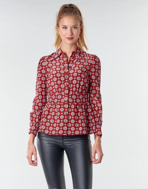 Clothing Women Tops / Blouses MICHAEL Michael Kors LUX PINDOT MED TOP Bordeaux