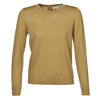 Clothing Women Jumpers MICHAEL Michael Kors SOLID BUTTON BK SWTR Camel